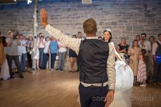 Bride and groom strike a pose during first dance at Durlston Castle wedding Sand Ceremony, Civil Ceremony, Wedding First Dance, Blue Suit Jacket, New Wife, Wedding Breakfast, Navy Blue Dresses, Strike A Pose, Newlyweds