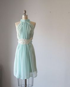 Dress Romantic Bridesmaids Wedding Dreamy Misty  Aqua blue / pale mint green  Soft Heavenly Chiffon