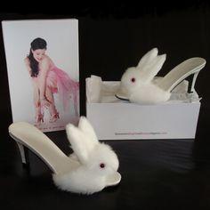 Chinelos de Quarto de Coelhinho - High Heel Bunny Slippers