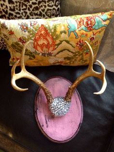 SOLD Mounted Deer Antlers Makes a Perfect Hook to by SouthernREbelle, $85.00