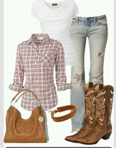 Cute n country, mode country, cute country outfits, western outfits, Mode Country, Country Girl Style, Country Fashion, Mode Outfits, Fall Outfits, Casual Outfits, Fashion Outfits, Womens Fashion, Summer Outfits