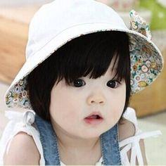 Baby Girls Reversible Summer Sun Hat