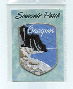Oregon with Mountain Shore Embroidered Souvenir Collectible Patch | eBay