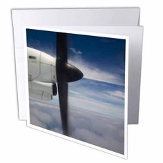 3dRose Vanuatu, Tanna, Turbo-prop airliner, aviation - OC07 WBI0394 - Walter Bibikow, Greeting Cards, 6 x 6 inches, set of 12