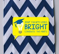 Your Future Looks Bright gift tags; Your Future Looks Bright cards; graduation gift tags