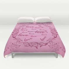 Floral Love Duvet Cover by refreshdesign
