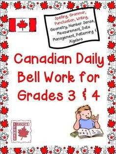 Canadian Daily Bell Work for Grade 3 & 4 Ontario Curriculum, Social Studies Curriculum, Social Studies Resources, Classroom Resources, Math Resources, 4th Grade Math, Grade 3, Third Grade, Middle School Writing