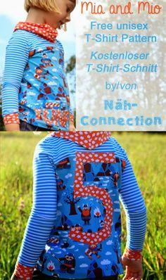 Free unisex T-shirt pattern - Freebook Shirt für Kinder