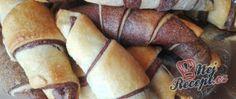 Recept Perfektní snídaně nebo svačina - měkkoučké dvoubarevné rohlíky (croissanty) z kynutého těsta Nutella, Pizza, Potatoes, Vegetables, Cake, Food, Potato, Kuchen, Essen