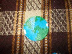 globe with hama beads