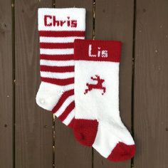 New Ideas Crochet Christmas Stocking Pattern Free Mom Christmas Stockings With Names, Knitted Christmas Stocking Patterns, Crochet Stocking, Kids Stockings, Knitted Christmas Stockings, Knitting Patterns Free, Free Pattern, Free Knitting, Sock Knitting