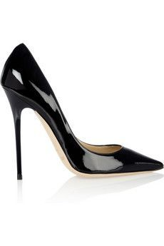 Just added to my own collection! :) (happy birthday to me!) I'd be happy if he did these in EVERY color! Jimmy Choo|Anouk patent-leather pumps