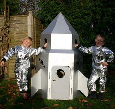 Cardboard Rocket Inspiration - TheArtistLane