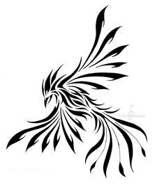 a phoenix tattoo design I did last yr. tribal-ish style I have more tattoo designs coming up ------------ Feel free to use this, all I ask for is credit for the design given to me (and link back . Tribal Tattoos, Symbol Tattoos, Tribal Tattoo Designs, Celtic Tattoos, Body Art Tattoos, Sexy Tattoos, Tatoos, Tribal Phoenix Tattoo, Phoenix Tattoo Design