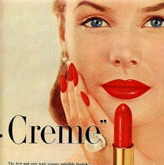 vintage pin-up girls revlon advertisement cosmetic lipstick