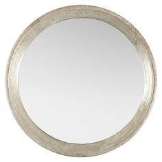 One Kings Lane - Off the Wall - Large Round Mirror, Silver