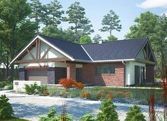 Projekt domu Artemida - murowana – beton komórkowy 161,80 m² - koszt budowy - EXTRADOM Home Fashion, Solar Panels, House Plans, Cabin, House Styles, Outdoor Decor, Home Decor, Sun Panels, Decoration Home