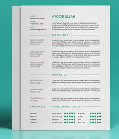 Contemporary Resume Templates Resume Template & Cover Letter Template  Modern Resume And Creative .