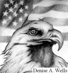 Eagle and American Flag Tattoo Design by Denise A. Wells - Eagle and American Flag Tattoo Design by Denise A. Animal Drawings, Pencil Drawings, Tattoo Drawings, Art Drawings, Native American Drawing, Eagle Drawing, Military Drawings, Eagle Art, Black And Grey Tattoos