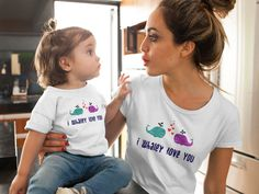 I Whaley Love You T-Shirt (I Really Love You T-Shirt) Mom Of Boys Shirt, Mommy And Me Shirt, Mommy And Me Outfits, Mama Shirt, Mom And Daughter Matching, Mom Daughter, Daughters, Disney Shirts For Family, Shirts For Teens