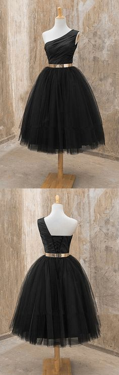 Short Dresses,One shoulder Homecoming dress, Black homecoming dress, short homecoming dress, 2016 homecoming dress, dresses for homecoming,