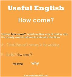 How come?-          Learn and improve your English language with our FREE Classes. Call Karen Luceti  410-443-1163  or email kluceti@chesapeake.edu to register for classes.  Eastern Shore of Maryland.  Chesapeake College Adult Education Program. www.chesapeake.edu/esl.