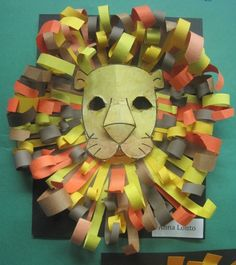 Construction Paper Lion Heads