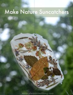 Make sun catchers from glue - easy kids craft! Easy Crafts For Kids, Projects For Kids, Art For Kids, Kid Crafts, Diy Projects, Nature Crafts, Fall Crafts, Spring Activities, Activities For Kids