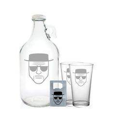 Breaking Bad Growler 64oz- Beer Growler with Heisenberg Logo on Etsy, $26.99