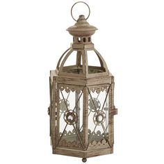 Jewel Hexagon Lantern - Grey Mini