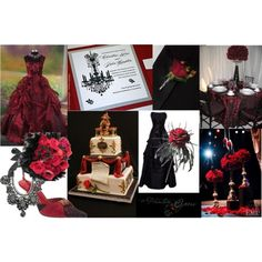 Phantom of the Opera Wedding  The cake! The table!