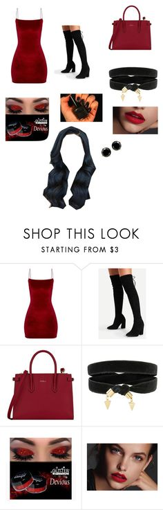 """""""Untitled #92"""" by aireonna ❤ liked on Polyvore featuring Furla and Glitter Gal"""