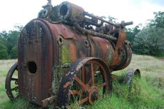 Old steam engine, Daisy Plains, Carrai National Park. Our ancestors and history being forgotten.