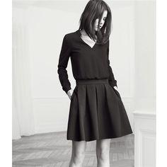 Robe bi-matière // BA&SH pour La Redoute Two pattern dress // BA&SH for La Redoute