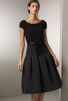 Cashmere bodice dress by Heidi Weisel $2,310.00...elegant!