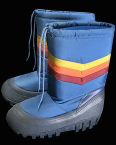Moon Boots. We were the only ones that had these and our friends thought they were hilarious!