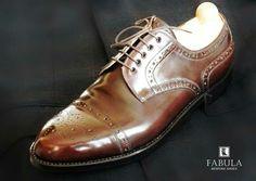 Fabula Bespoke Shoes. Unique handmade, bespoke men's shoes. Modell: Vienna modell (mahagoni-cordovan)