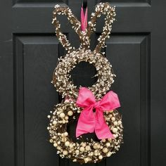 Creative Easter Bunny Wreath by madeline.nave