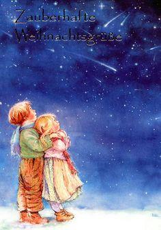 "Photo from album ""Lisi Martin Christmas Cards"" on Yandex. Christmas Paper, Christmas Love, Vintage Christmas, Christmas Illustration, Illustration Art, Spanish Artists, Holly Hobbie, Vintage Cards, Illustrators"