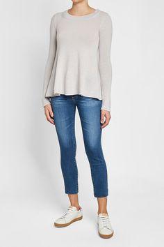 81 HOURS - Chita Peplum Cashmere Pullover | STYLEBOP Ag Jeans, Cropped Skinny Jeans, Grey Fashion, My Wardrobe, Cashmere, Peplum, Grey Style, Dressing, Street Style