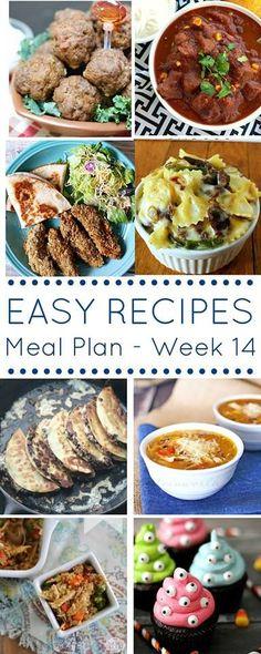 The Easy Dinner Recipes Meal Plan – Week 14