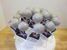 Death Star Cake Pops With May The Force Be Wars Birthday I