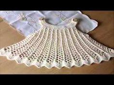 Crochet Baby Dress~Sugar N Spice tutorial - YouTube