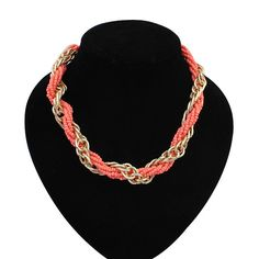4 colors Bohemia Popular Fashion Vintage National Wind Round Beads Necklace Statement Necklace for women 2014 US $2.97