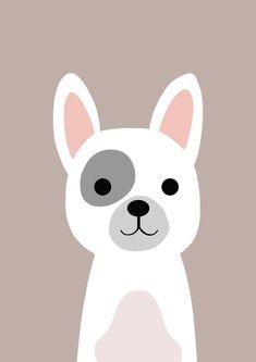 Doggy Nursery Prints, Nursery Art, Cute Drawings, Animal Drawings, Baby Posters, Cute Illustration, Baby Decor, Dog Art, Cute Wallpapers