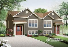 COUNTRY STYLE MULTI-FAMILY HOME  2 to 3 bedroom option, small and affordable  http://www.drummondhouseplans.com/house-plan-detail/info/eastman-country-1003124.html