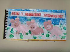 les 3 petits cochons - notre livre - Servins MS - GS année 2012-2013 toutes les étapes expliquées, (supers explications au tableau: trame de l'histoire, couv)