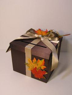 Fall Wedding Card Box Gift Card. Kinda along the lines of theme I may want.