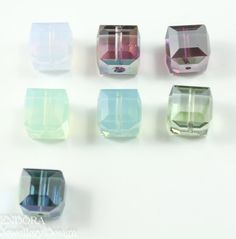 Blue crystal earringsSwarovski cube earringsSilver Cube