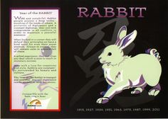 The Chinese Astrology: Chinese Horoscope Signs: The Rabbit